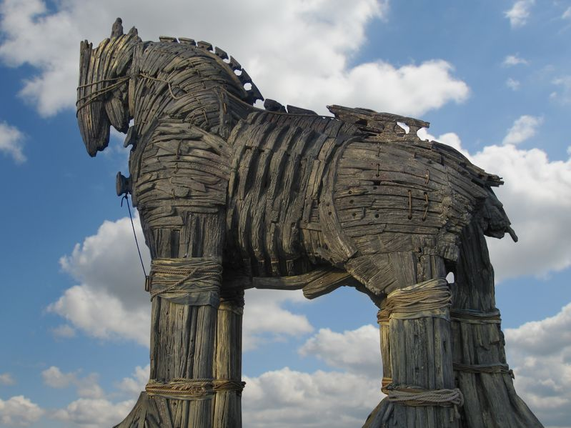 13806934 - trojan horse in canakkale square,turkey