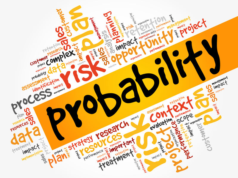 Probability word cloud
